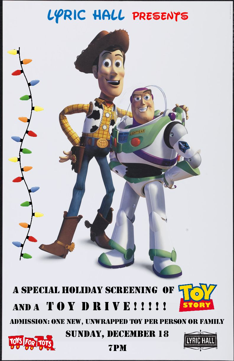 Toy Story Holidays : Holiday screening of 'toy story and toy drive lyric hall