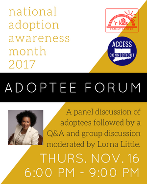 Adoptee Forum - National Adoption Awareness Month 2017