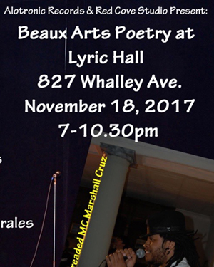 Beaux Arts poetry: Elizabeth Thomas, Rebel Poet, Chad Browne-Springer, Zulynette Morales