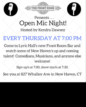 OPEN MIC NIGHT Hosted by Kendra Dawsey